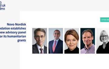 Novo Nordisk Foundation establishes a new advisory panel for its humanitarian grants