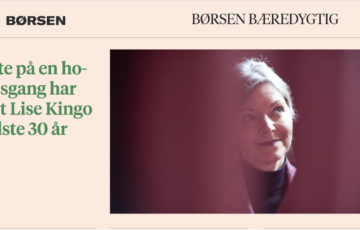 While in the hospital, Lise Kingo made a promise to herself which has driven her the last 30 years.